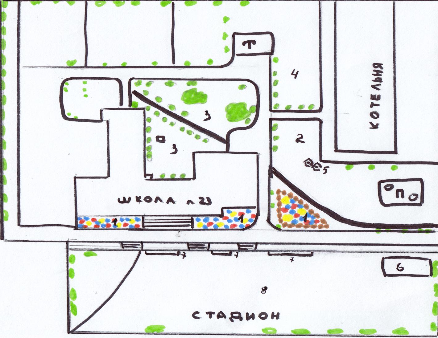 Презентации дизайн пришкольного участка 155