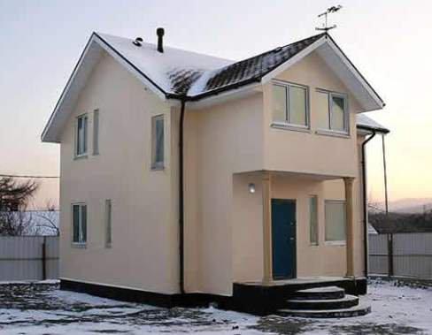 дома отштукатуренные фото